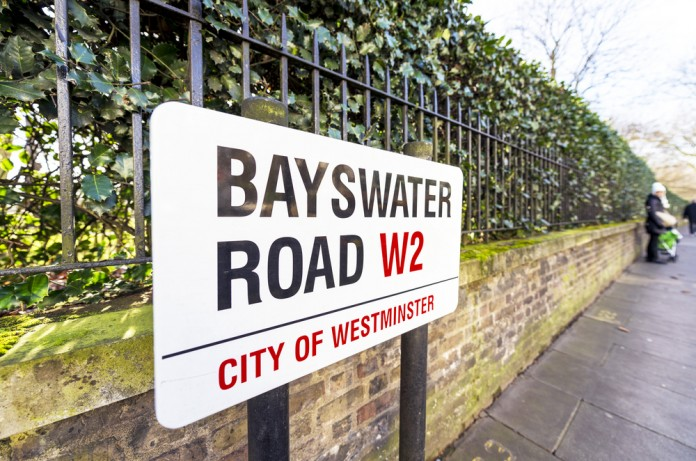 bayswater road sign