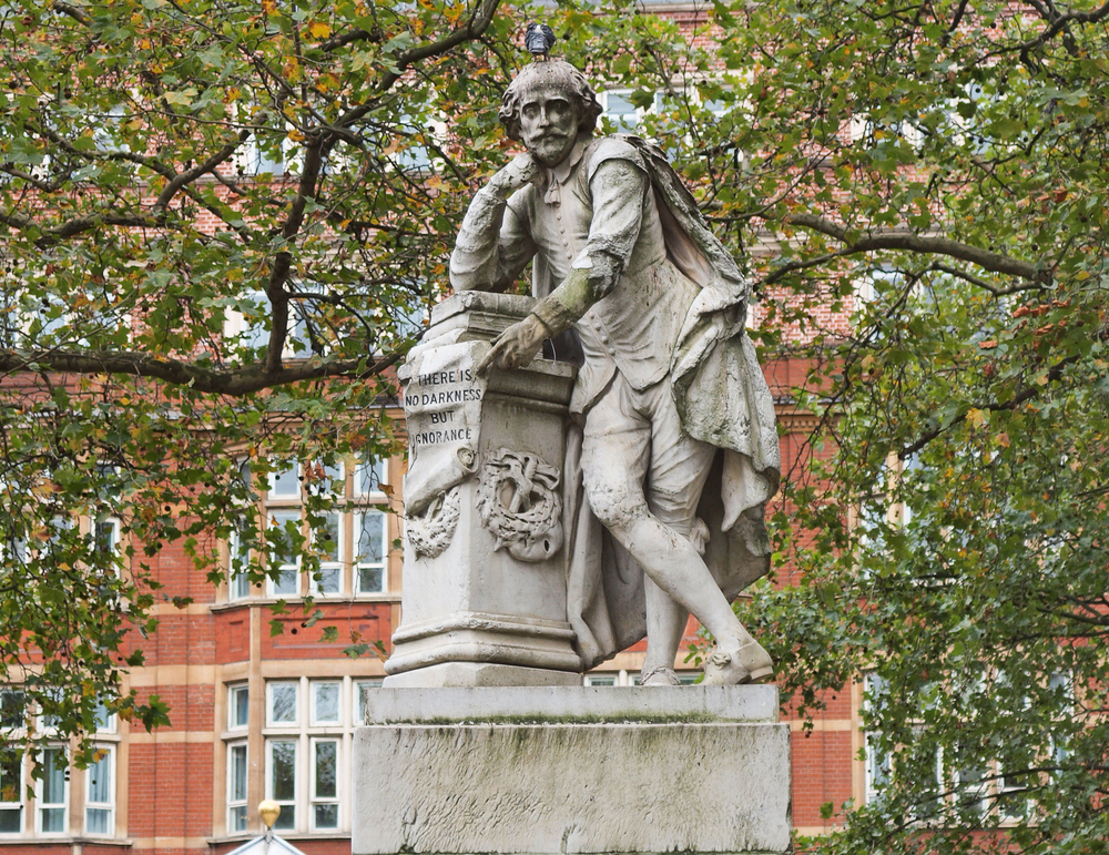 Statue of William Shakespeare in Leicester square London