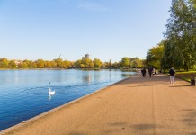 walk in the Hyde park in London